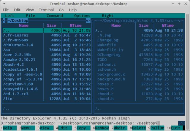 基于终端的文件管理器:Directory Explorer