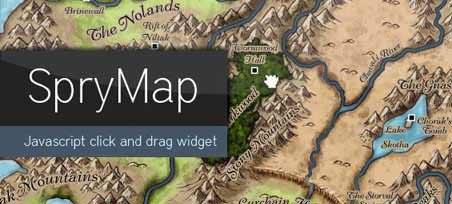 实现地图拖动功能 - SpryMap