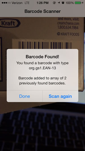iOS 7 条形码扫描器:Barcode Scanner
