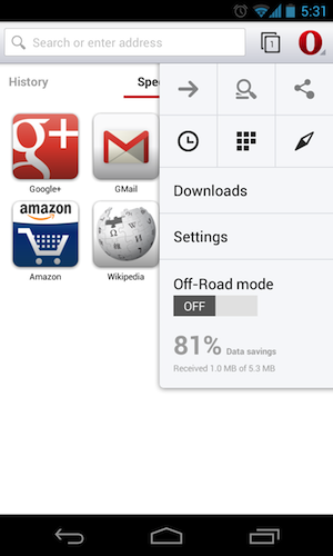 基于Chromium的Opera 14 for Android发布