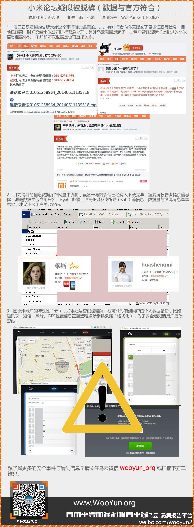 小米论坛800万用户数据库泄漏 请立即修改密码