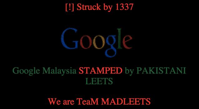 互联网并没有想象中安全,Google 马来西亚主页被黑