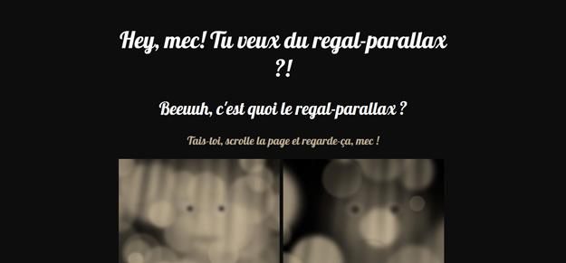 regal parallax