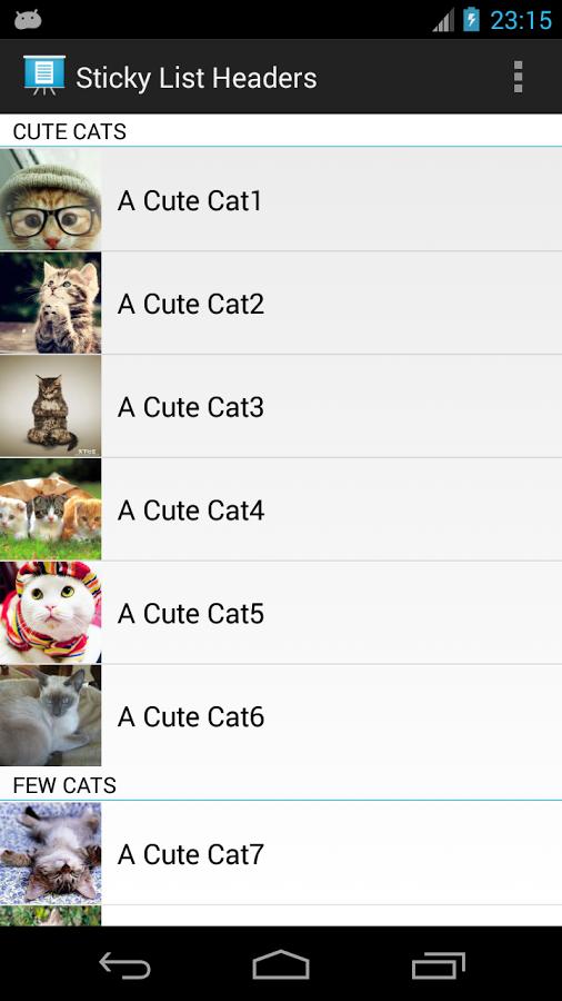 Android顶栏控件:AStickyHeader