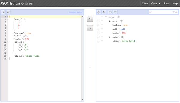 在线JSON编辑器:jsoneditor