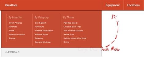 收集最好的jQuery和CSS3导航菜单