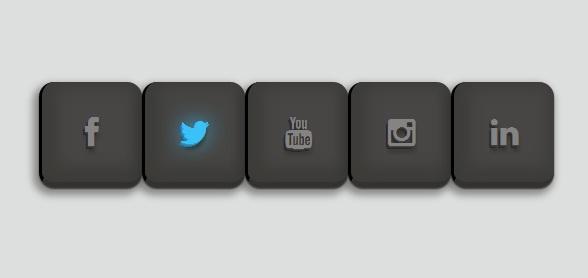 9 款经典华丽的 CSS3 分享按钮
