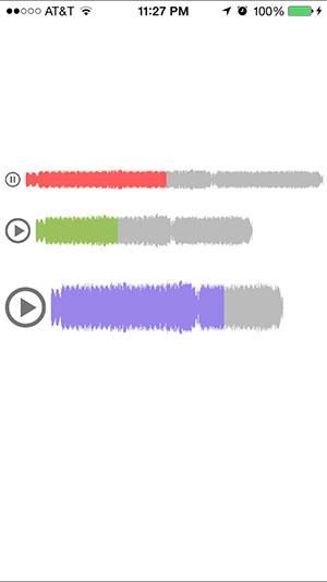 iOS 音频播放器:SYWaveformPlayer