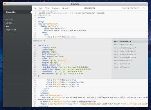 Adobe Brackets 1.2 发布,跨平台文本编辑器