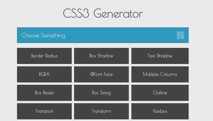 推荐 10 个超棒的 CSS3 代码生成工具