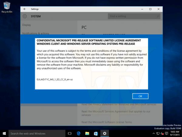 Windows 10 Build 10540更多截图泄露