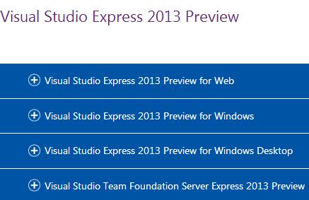 Visual Studio 2013预览版开放下载!