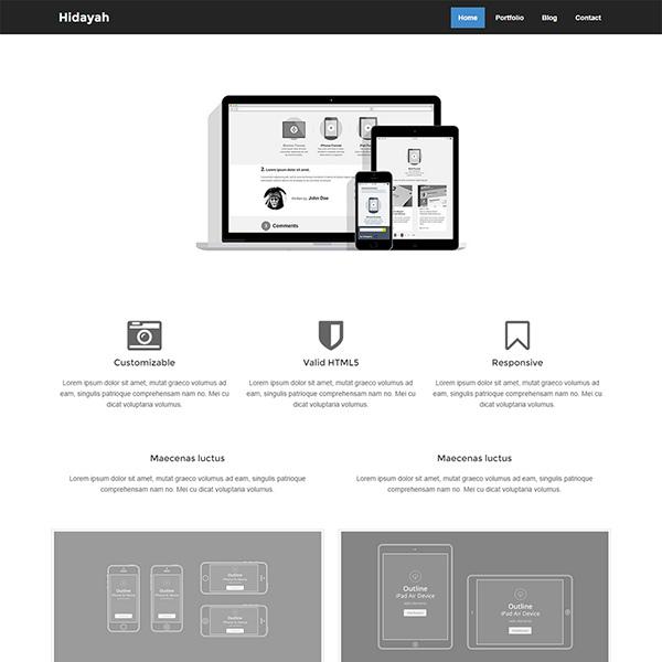 Hidayah Free Simple HTML Template