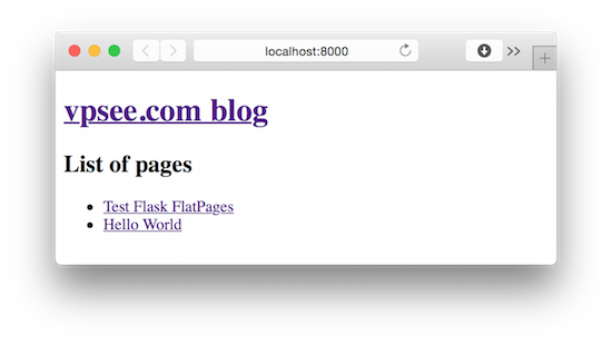 build a static blog with flask