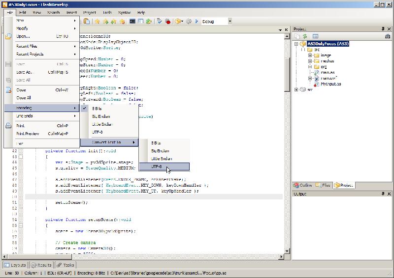 开源的Flash开发工具 FlashDevelop