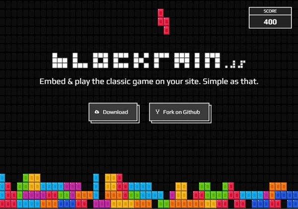 经典 HTML5 & Javascript 俄罗斯方块游戏:Blockrain.js