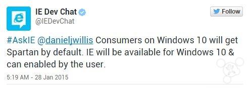 """微软:""""Spartan""""浏览器支持扩展 但Win10独占"""