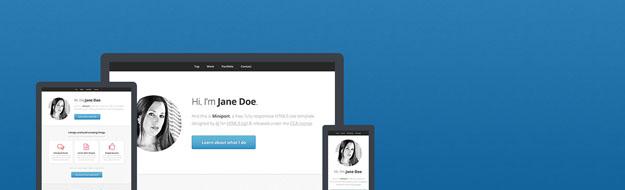 30个免费响应式HTML5 CSS3模板