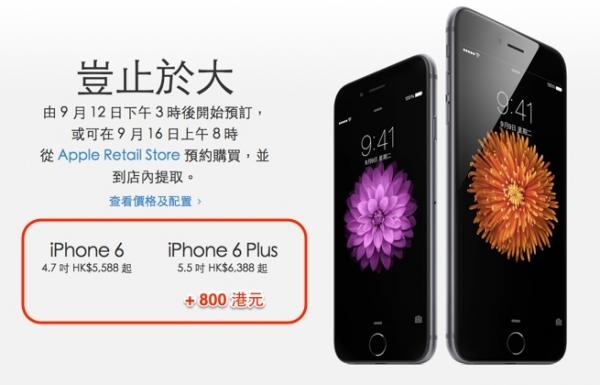 iPhone 6 Plus和6的区别