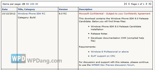 Windows Phone 8 SDK RC 版推出
