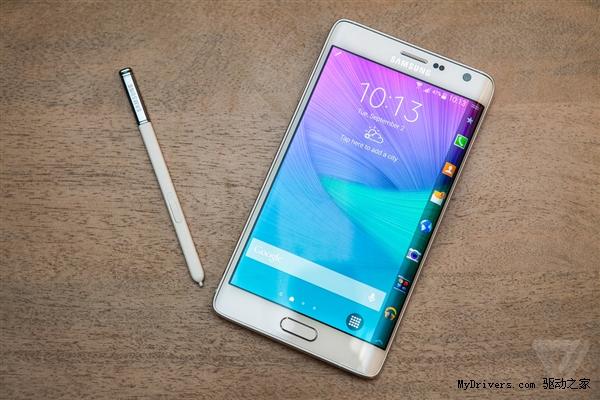 三星首款侧面曲屏手机Galaxy Note Edge真机抢鲜看