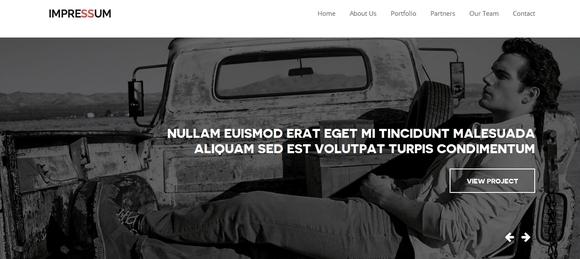 Impressum - free website templates