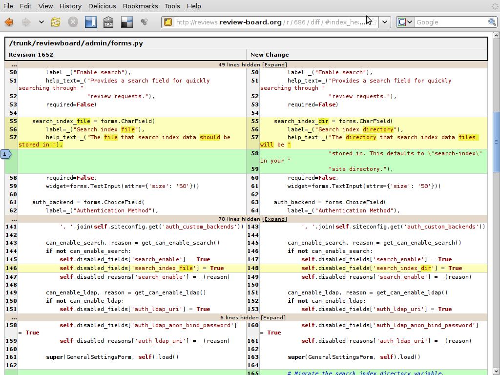 在线代码审查工具,Review Board 2.5.1 发布