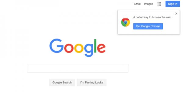 在Bing搜索Chrome或Firefox时会被推荐Edge浏览器