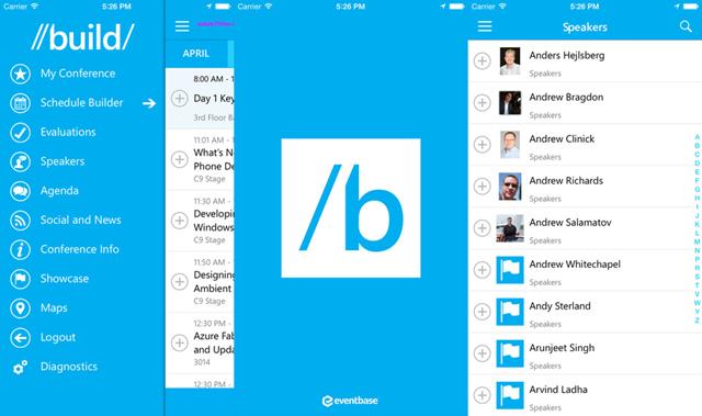 微软发布Build 2015应用:WP、iOS 和 Android平台