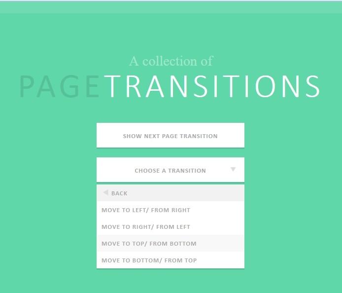 页面变换效果:PageTransitions