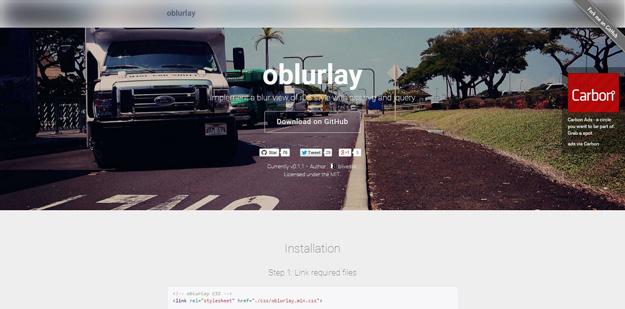 JS实现了 iOS 风格的模糊视图:oblurlay