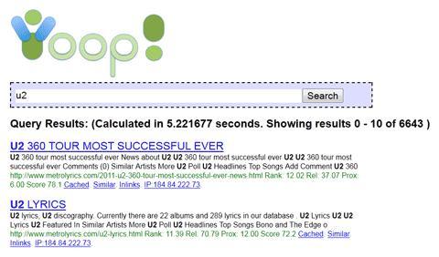 开源的PHP搜索引擎 - Yioop!