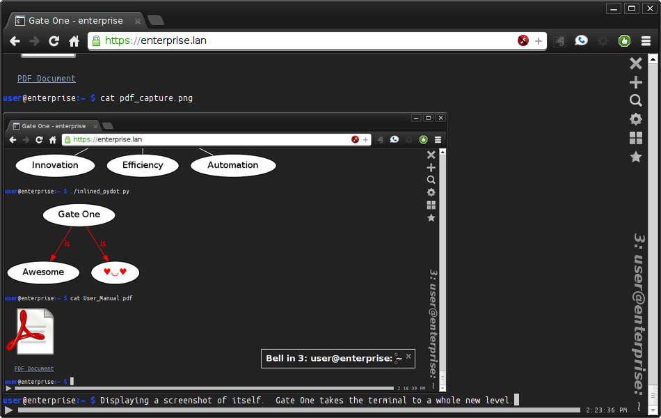 基于html5的ssh客户端:GateOne