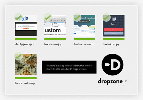 拖拽上传文件(支持图片预览):Dropzone.js
