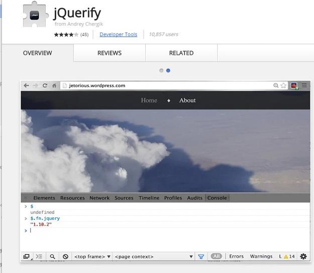 为jQuery开发人员准备的10个 Chrome 扩展
