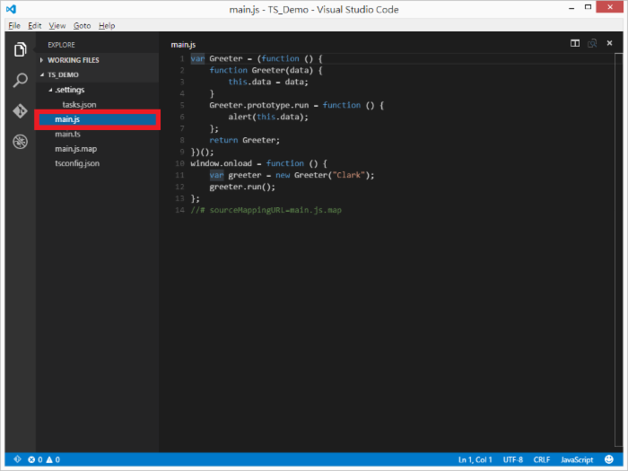 使用Visual Studio Code开发TypeScript