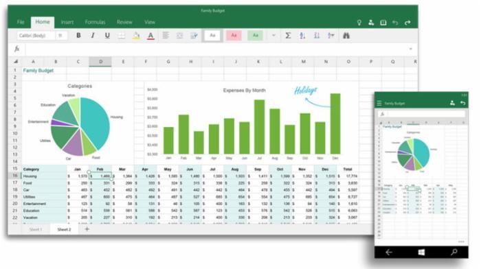 微软上线 Windows 10 Office 通用应用预览版