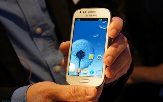 搭Android 4.1 三星发布4寸迷你Galaxy S III