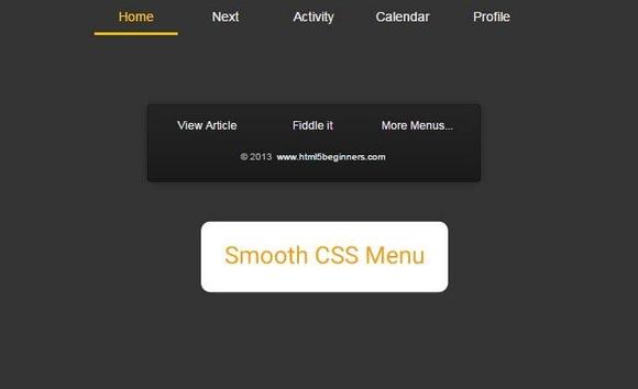 15 个最好的CSS3菜单指南