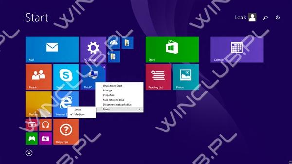 大升级 Windows 8.1 Update 1预览版泄露!