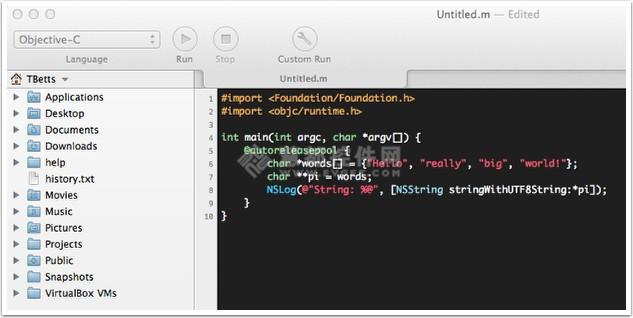 Mac和iOS应用开发工具 CodeRunner