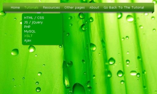 30个漂亮的HTML5和CSS3下拉菜单