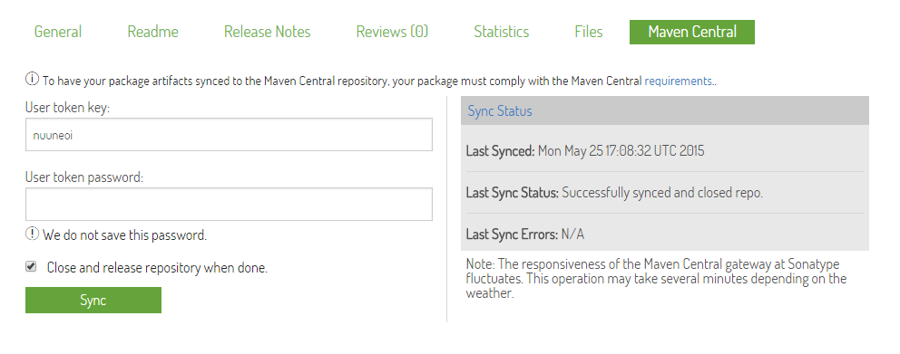 如何使用Android Studio把自己的Android library分享到jCenter和Maven Central