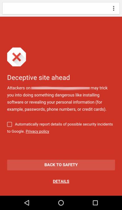 谷歌为安卓版 Chrome 开启安全浏览功能
