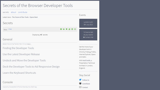 Secrets of the Browser Developer Tools