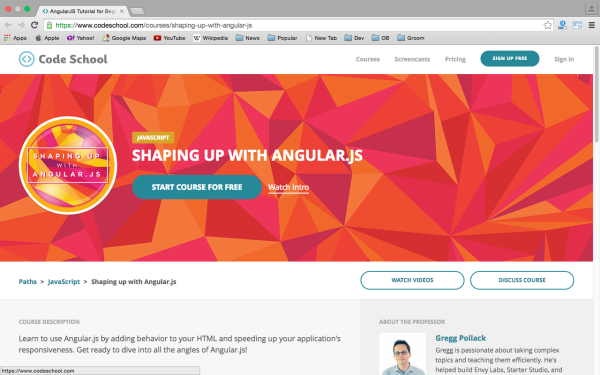 best resources and tutorials to learn AngularJS - codeschool-angularjs
