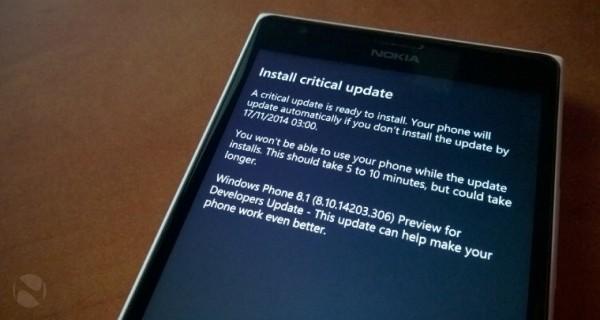 Windows Phone 8.1.1 Build 14203,重要更新