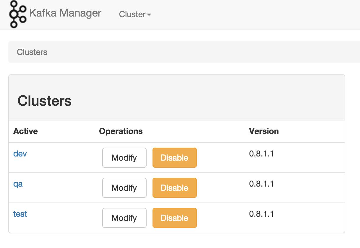 Yahoo 推出的 Kafka 管理工具:Kafka Manager