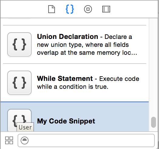 Xcode 自定义代码段