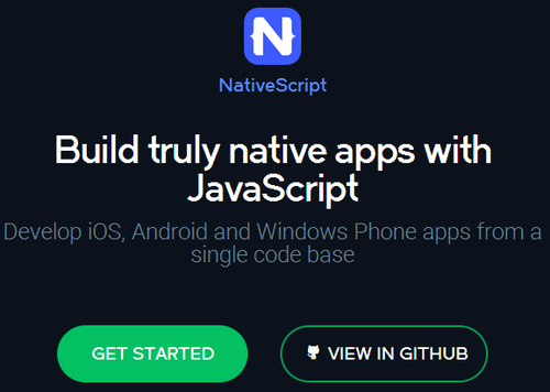原生体验挡不住!JavaScript开源跨平台框架NativeScript